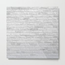 White Brick Metal Print