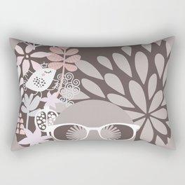 Afro Diva : Sophisticated Lady Pale Pink Peach Beige Rectangular Pillow