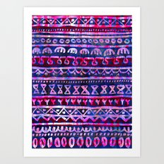 Hau'oli Stripe Purple Art Print