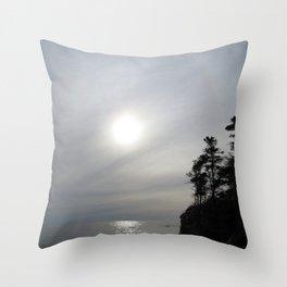 Watercolor Landscape, Cape Breton 26, Nova Scotia, Canada Throw Pillow