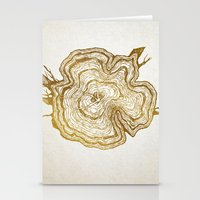 tree rings Stationery Cards featuring Tree Rings by Emmy Winstead
