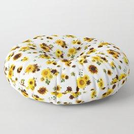 Sunflower Harvest Floor Pillow