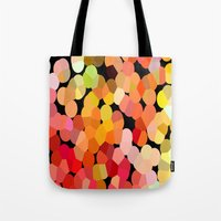confetti Tote Bags featuring Confetti by Rosie Brown