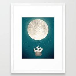 moon bunnies Framed Art Print