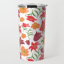 The Lilies in Red Travel Mug