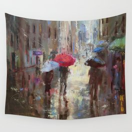 Quietness of Rain Wall Tapestry