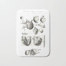 Human Anatomy Art Print HEART ATRIUM VENTRICLE Vintage Anatomy, doctor medical art, Antique Book Pla Bath Mat