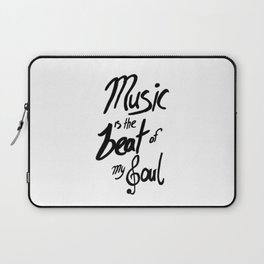 Listen to the Music Laptop Sleeve