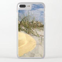 Sun Hat Clear iPhone Case