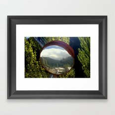 A town within a Bubble Framed Art Print