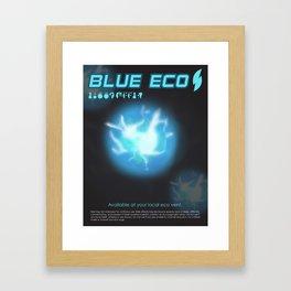 Blue Eco Framed Art Print