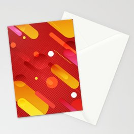 Abstract Meteor Shower Stationery Cards