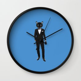 Gentleman Cat in Tuxedo suit Wall Clock