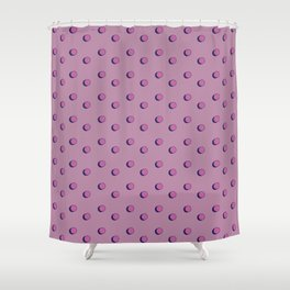 3D Dotted Pattern III Shower Curtain