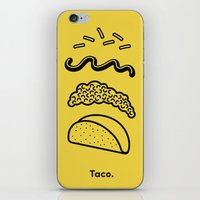 taco iPhone & iPod Skins featuring Taco Puzzle  by Rachel Peck