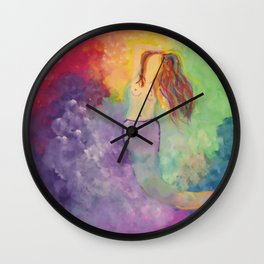 Celestial Mermaid Bath Wall Clock