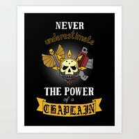 warhammer Art Prints featuring Chaplain, Warhammer 40K by ZsaMo Design