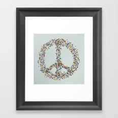 PEACE PILLS Framed Art Print
