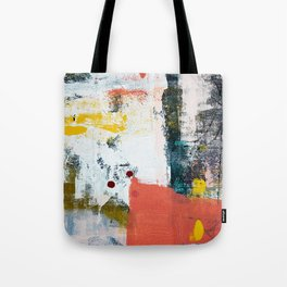 13th and Grant: a pretty street art piece in pink black and yellow by Alyssa Hamilton Art Tote Bag