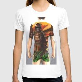 Samurai bodysuit tattoo design T-shirt