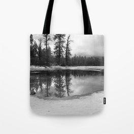 Sun Rays on a Melting Lake Tote Bag