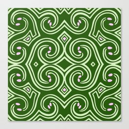 Svortices (Green) Canvas Print