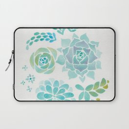 Watercolor Succulent Garden 1 Laptop Sleeve