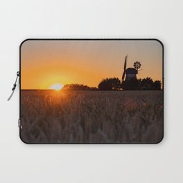 North German windmill from old time in the sunset Laptop Sleeve