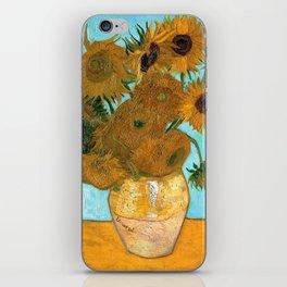 Vincent van Gogh - Still Life Vase with Twelve Sunflowers iPhone Skin
