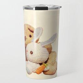 lovely teddy bear and bunny Travel Mug
