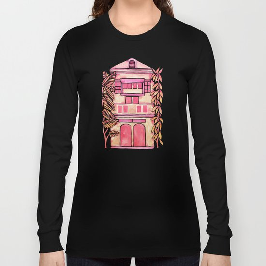 Tropical House – Pink Ombré Long Sleeve T-shirt