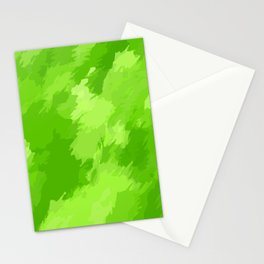 green painting abstract texture background Stationery Cards