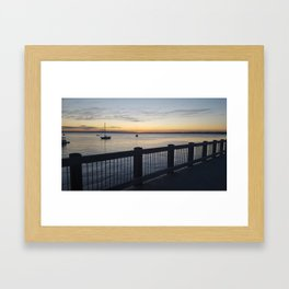 Sunset On the Bay Framed Art Print