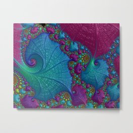 Blue Cotton Candy Metal Print