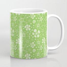 Sweet Green Floral Coffee Mug