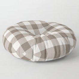 Buffalo Check Beige Cream Ivory Gingham Floor Pillow