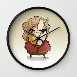 Imp who loves drinks and girls Wall Clock