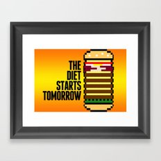 Diet Burger Framed Art Print