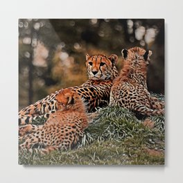 AnimalMix Cheetah 010 Metal Print