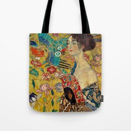 Gustav Klimt Lady With Fan Tote Bag