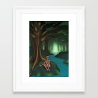 elf Framed Art Prints featuring Elf by Egberto Fuentes