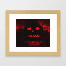 Angry Pumpkin Framed Art Print