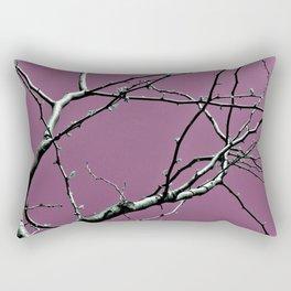 Reaching Violet Rectangular Pillow