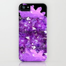 AWESOME PURPLE AMETHYST CRYSTAL CLUSTER iPhone Case