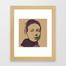 Simone de Beauvoir Framed Art Print