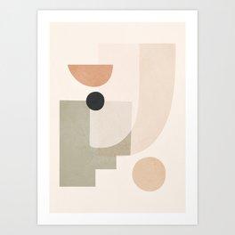 Abstract Minimal Shapes 9 Art Print