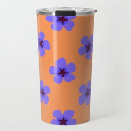 Colorful hand drawn retro home decor and textile design almond flowers pattern #3 Travel Mug