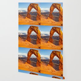 DELICATE ARCH SUNSET ARCHES NATIONAL PARK MOAB UTAH Wallpaper
