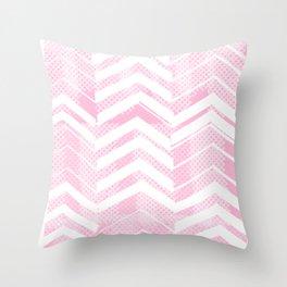 Pretty in Pink Chevron Throw Pillow