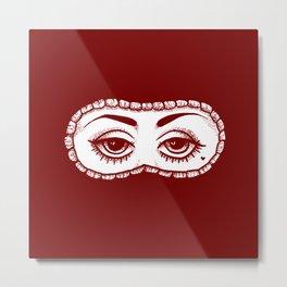These Eyes - Red Metal Print